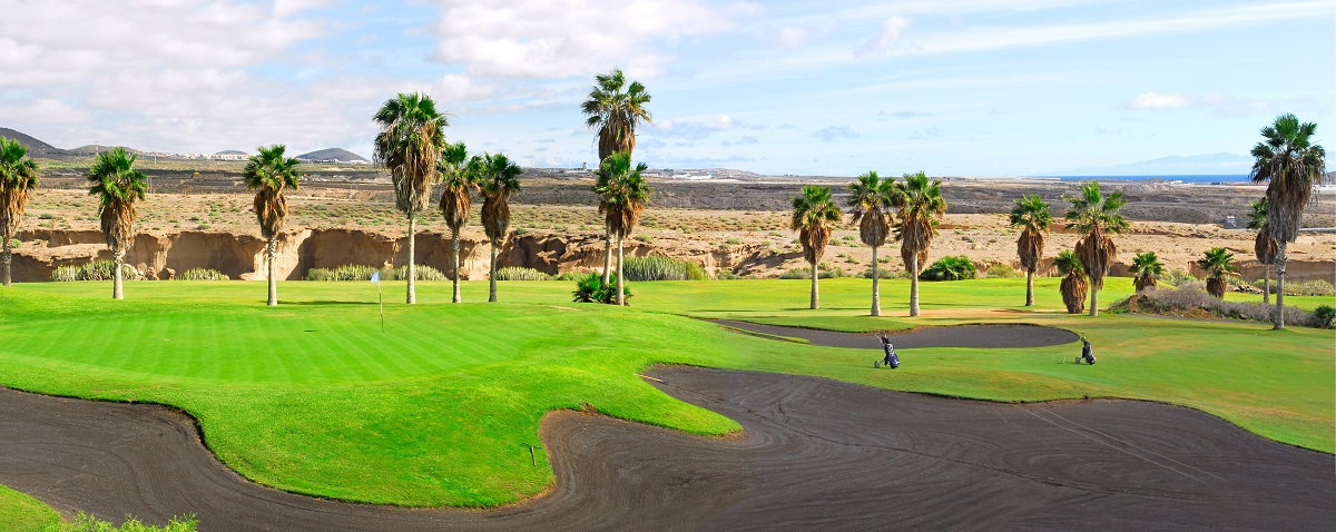 Playing golf in Tenerife